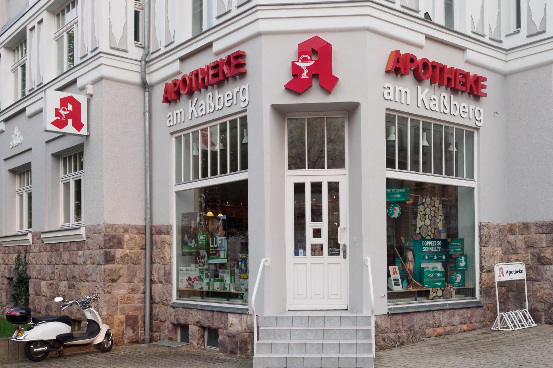 Außenansicht der Apotheke am Kaßberg